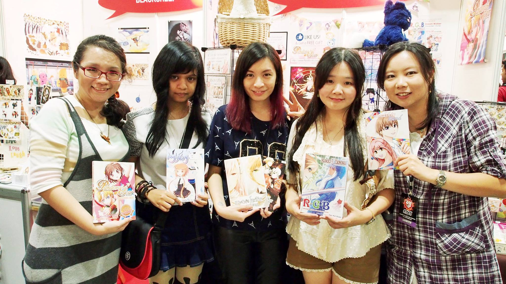 A Deal With Lucifer Author Clio Hui Kiri with Comix Pandora Artists at STGCC 2015